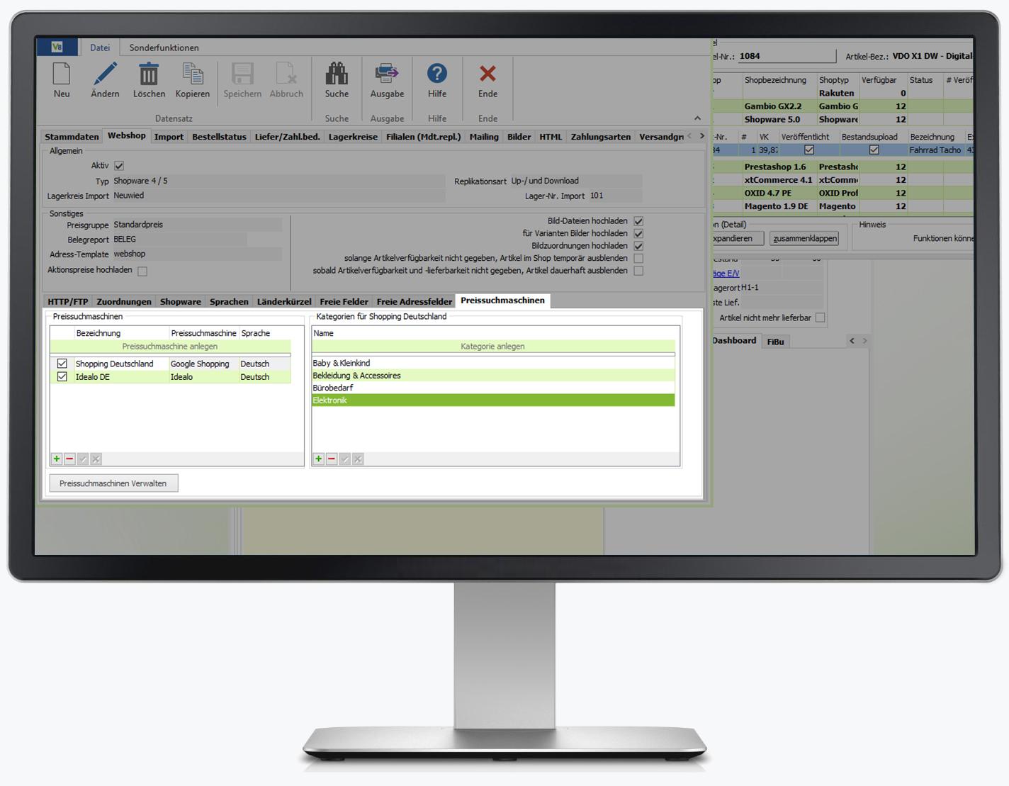 Übertragung Ihrer Artikel in nur wenigen Schritten mit der integrierten Software in VARIO