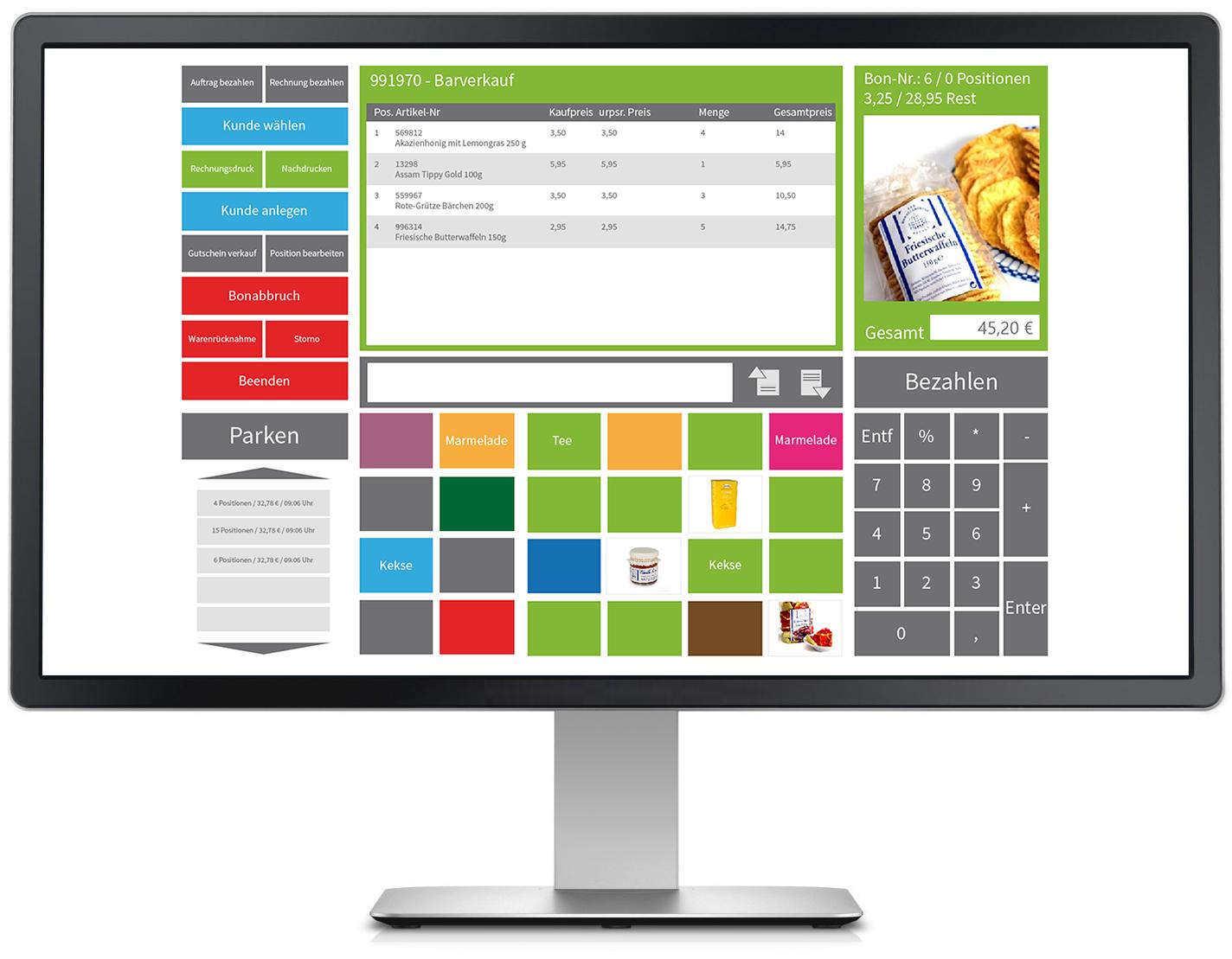 Registrierkasse mit kostenloser Kassensoftware VARIO 8