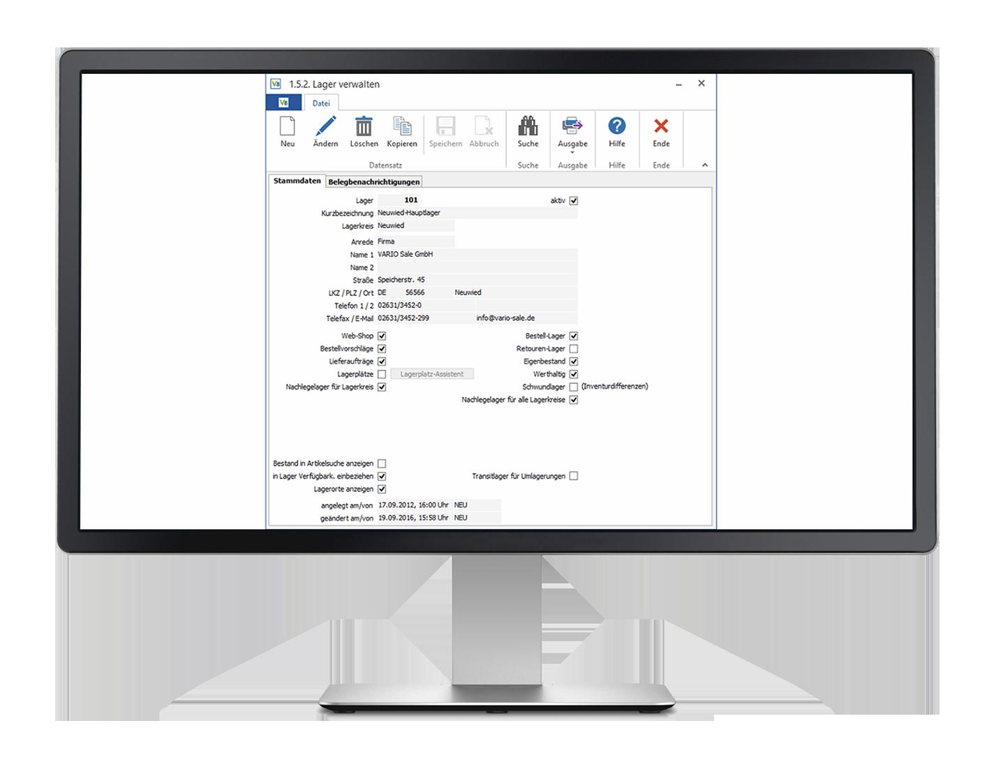Lagerverwaltung und Lagerlogistik in einer Software mit der VARIO Warenwirtschaftssoftware