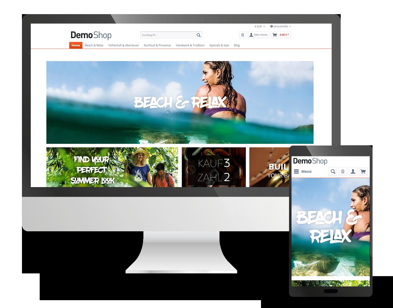 Shopware Online-Shop mit Anbindung an die Warenwirtschaft