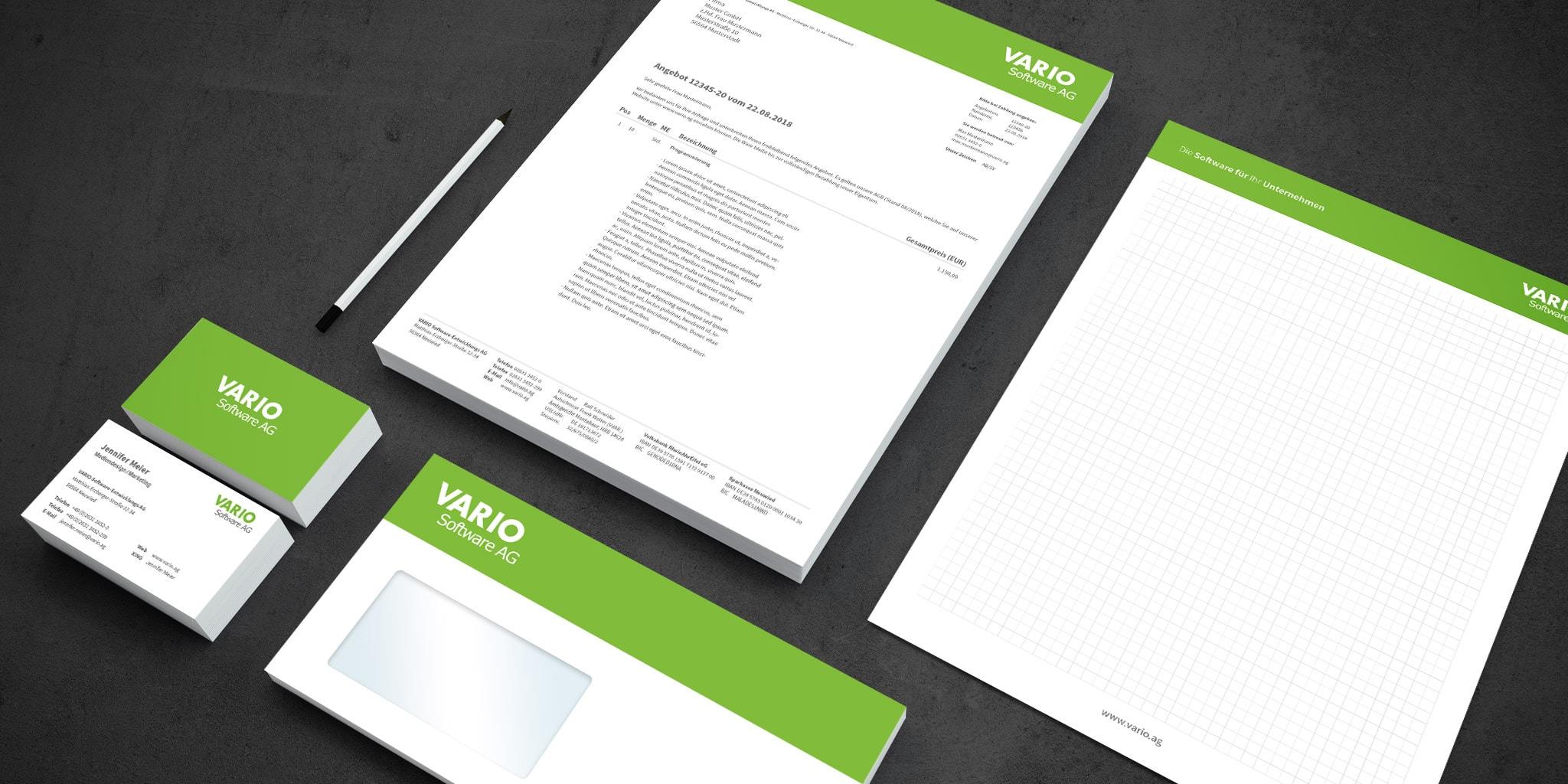 Logo und Corporate Design als VARIO Agenturleistung