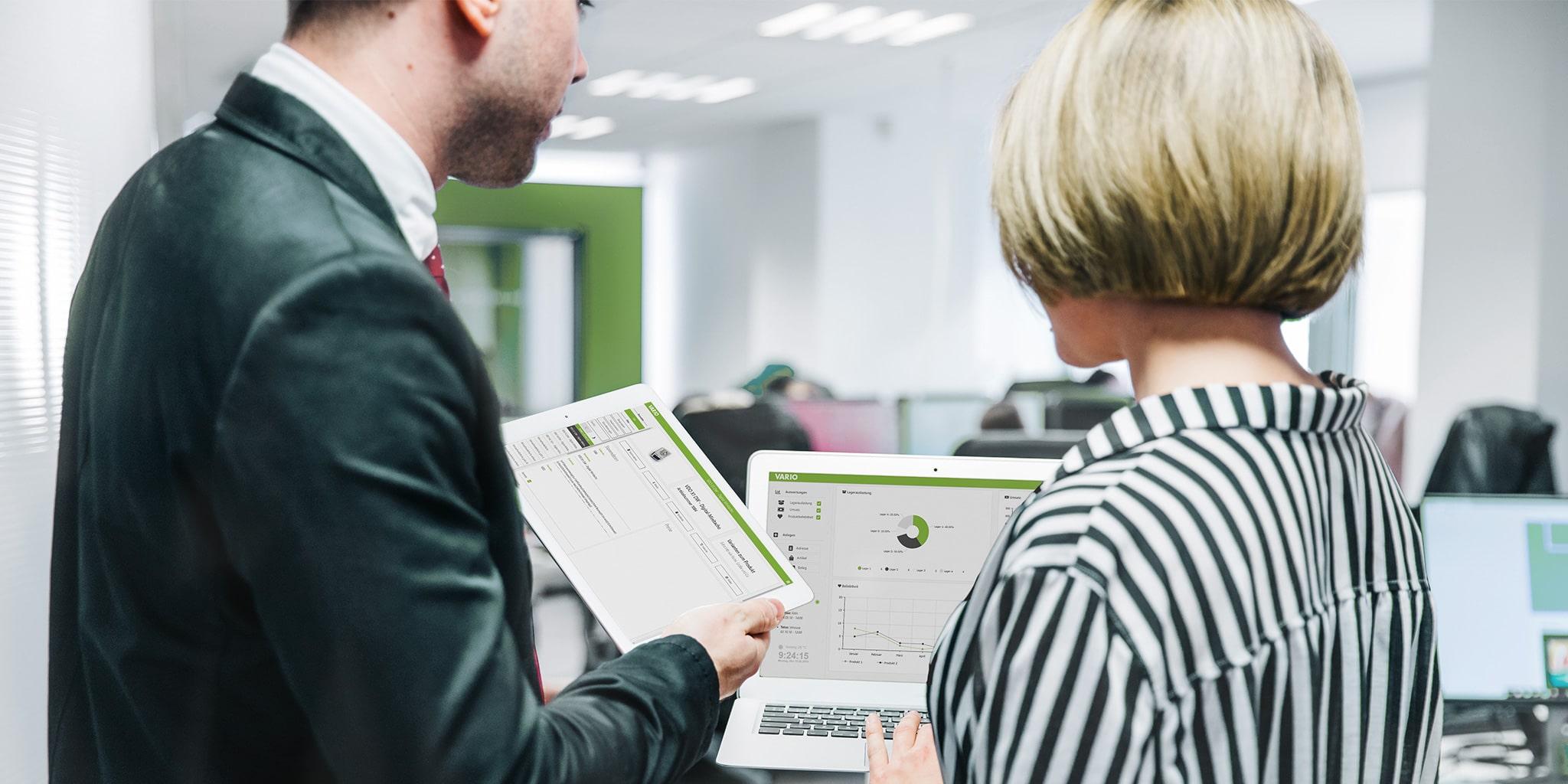 Mobiles CRM (Customer-Relation-Management) in der VARIO Warenwirtschaft