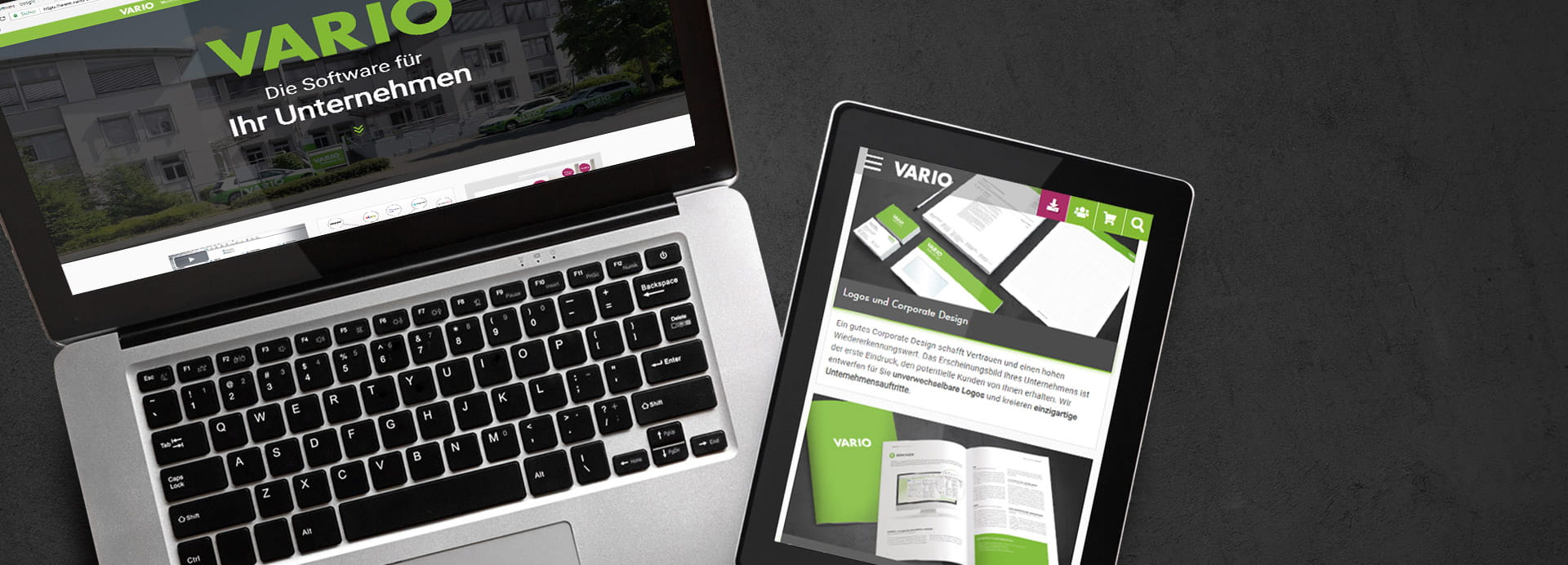 Neues Design der VARIO Website