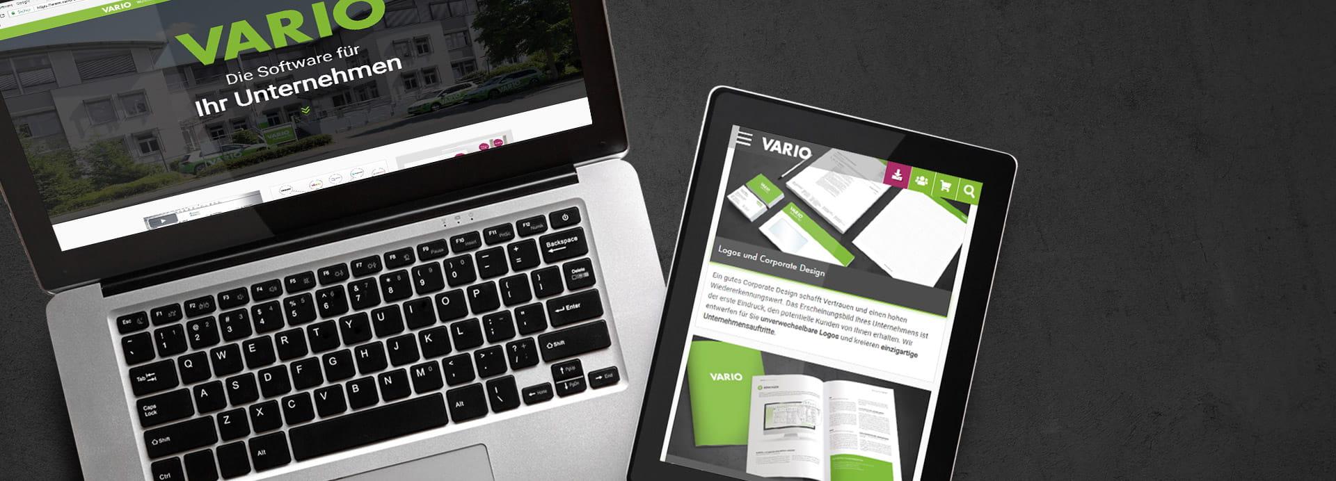 Neues Design der VARIO Website