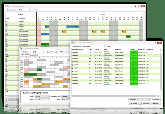 Planung von Urlaubszeiten mit der VARIO Zeiterfassungssoftware