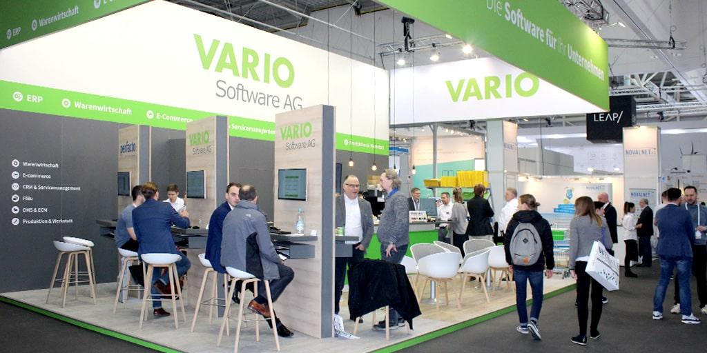 Messestand der VARIO Software AG auf der IW19