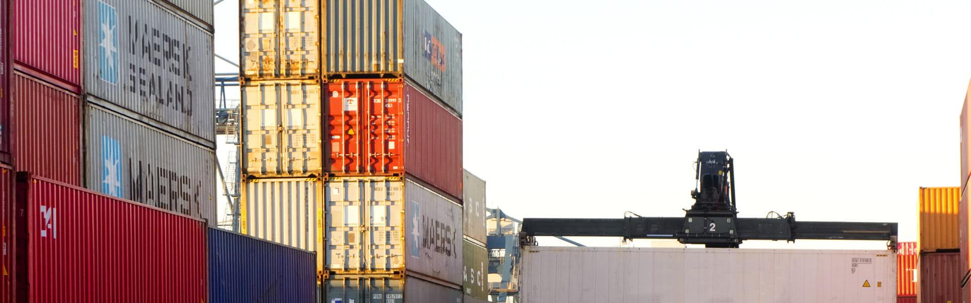 Container im Hafen