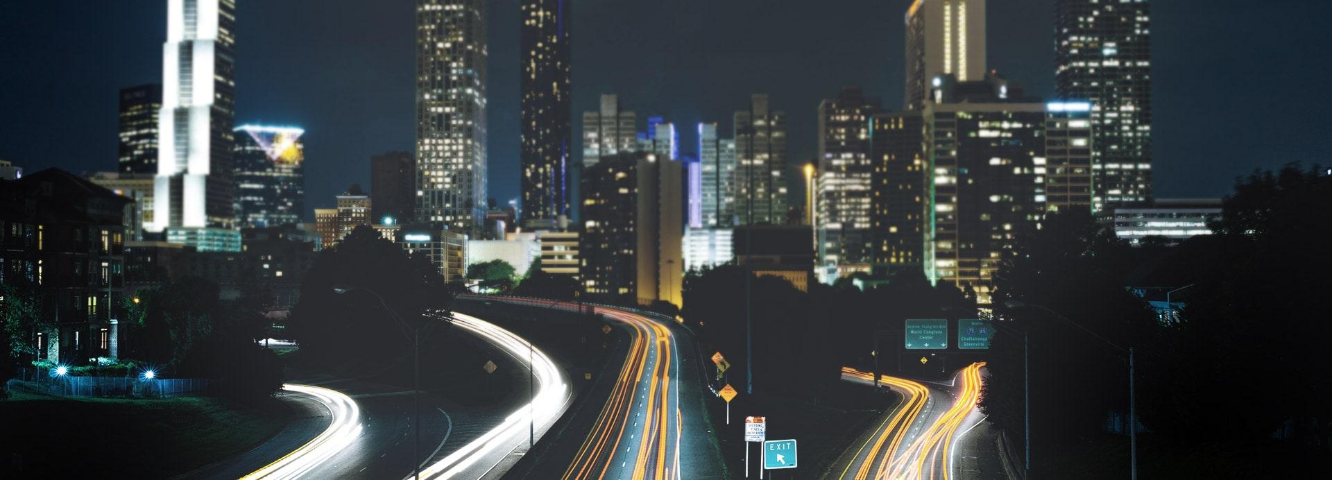 Skyline einer modernen Stadt