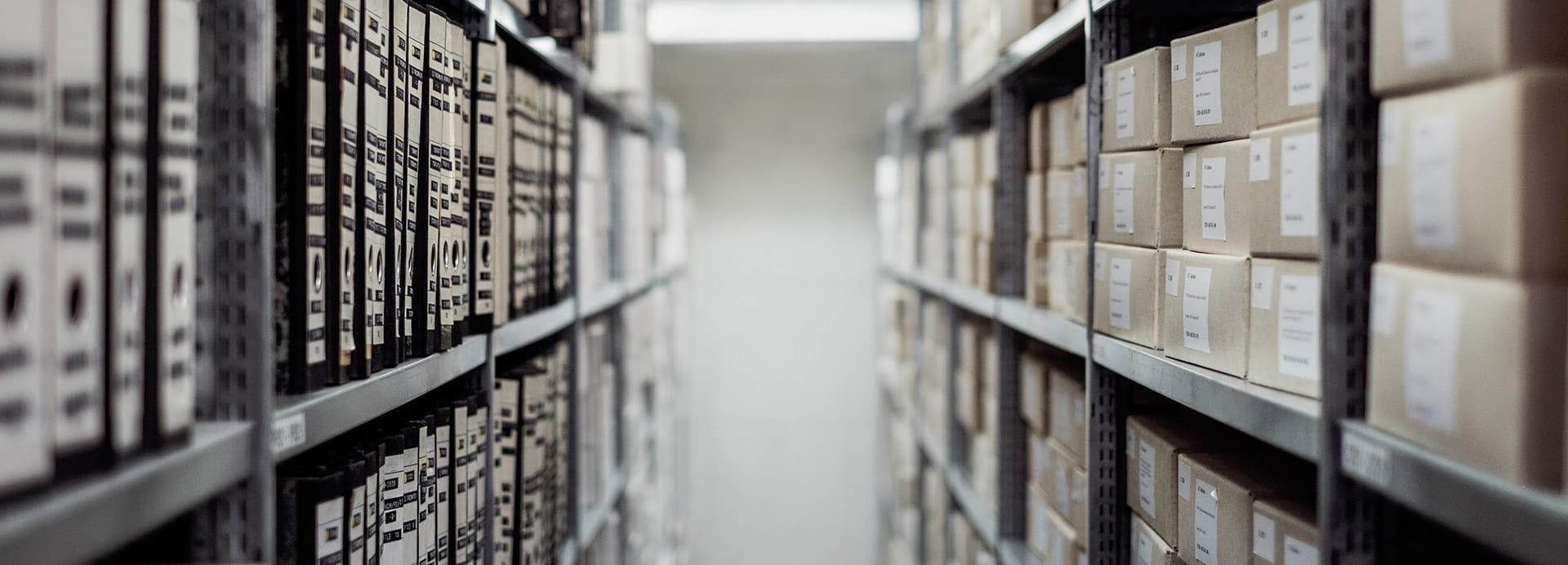 Archiv mit Dokumenten