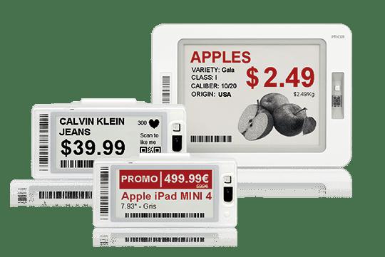 Elektronische Preisschilder mit der elektronische Preisauszeichnung steuern