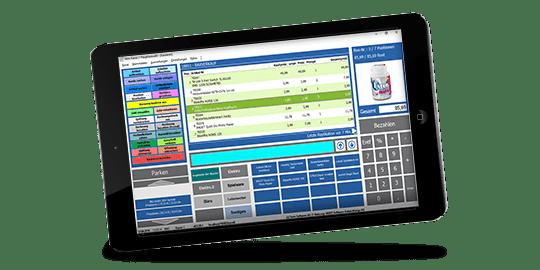 VARIO Kassensystem mit Registrierkasse, Tochscreen, Kassendrucker, Kassenscanner und Kundendisplay
