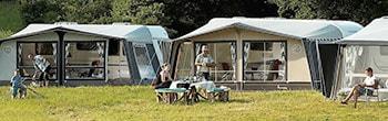 Vermietetes Campingzelt