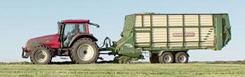 Vermietete Landmaschine