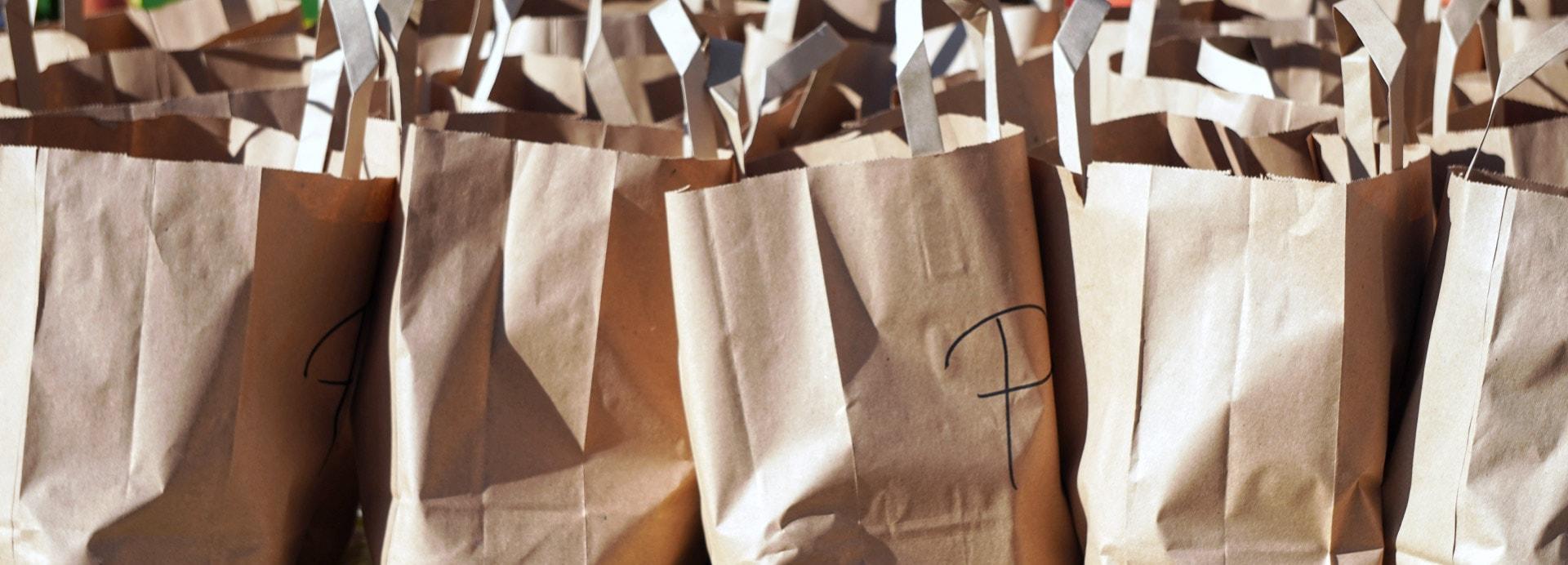 Einkaufstüten zur Abholung