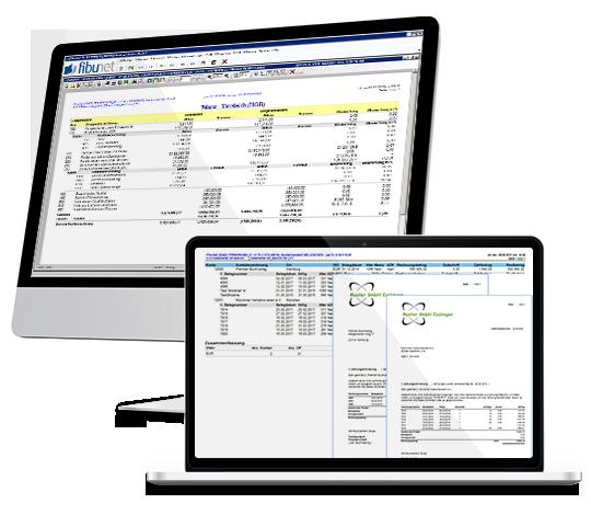 Finanzbuchhaltung mit der Software von FibuNet