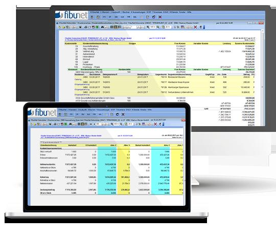 Kostenrechnungen erstellen mit der FibuNet Buchaltungssoftware