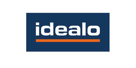 Logo von idealo, die eine Schnittstelle in der VARIO Warenwirtschaft haben