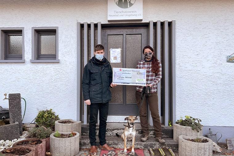 Spendenübergabe Tierheim Neuwied VARIO