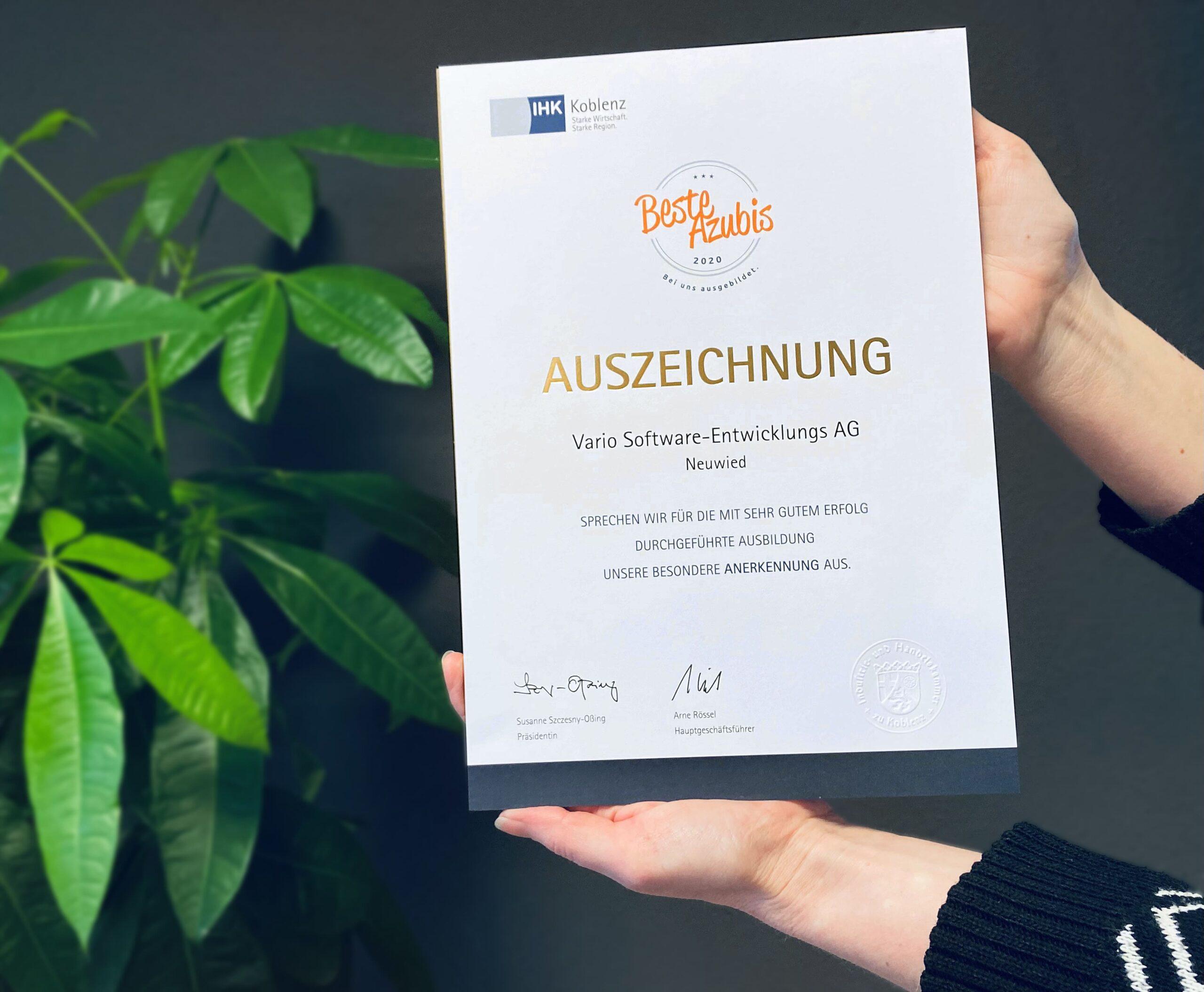 Auszeichnung Beste Azubis 2020