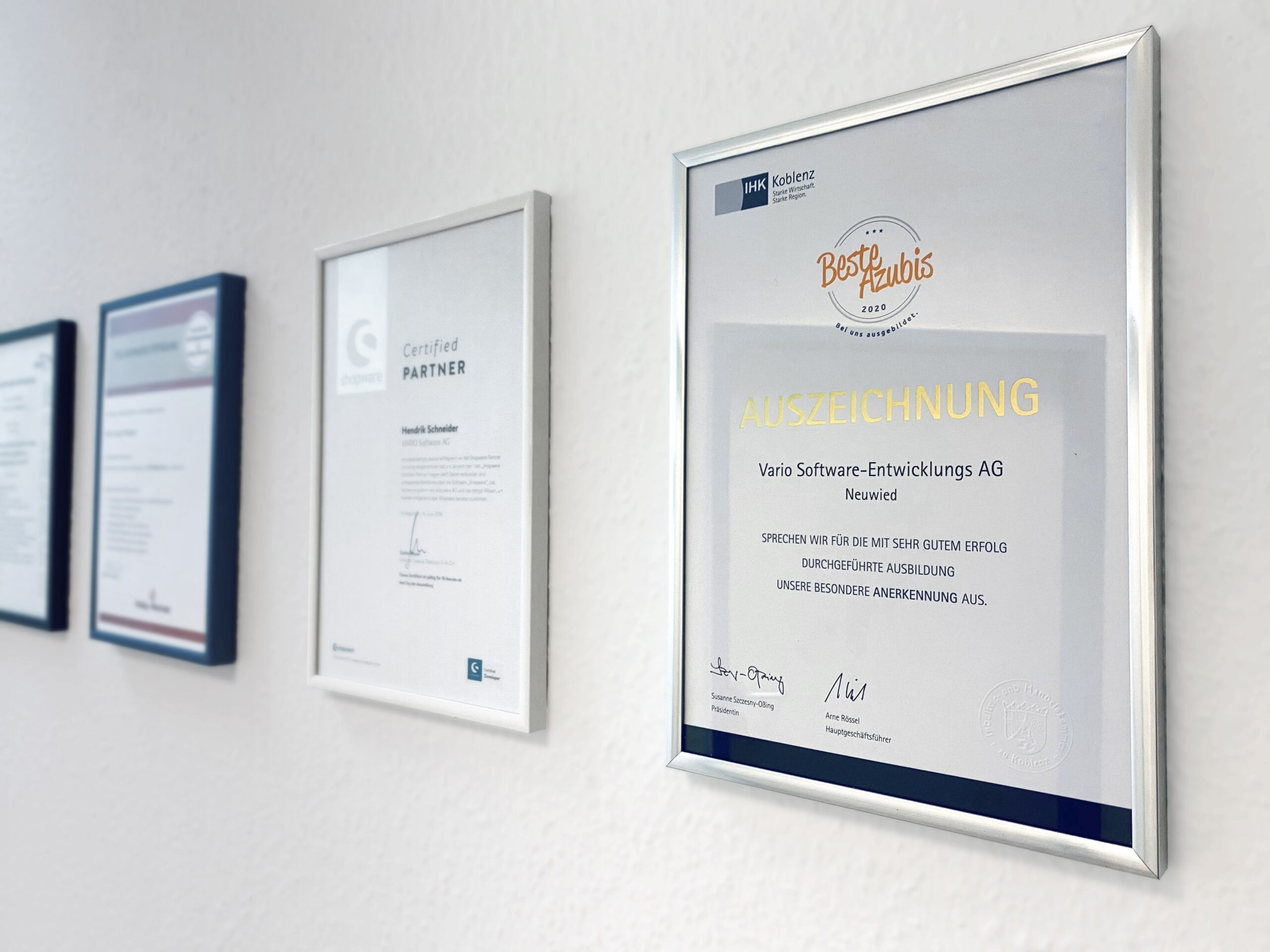 VARIO Auszeichnungen