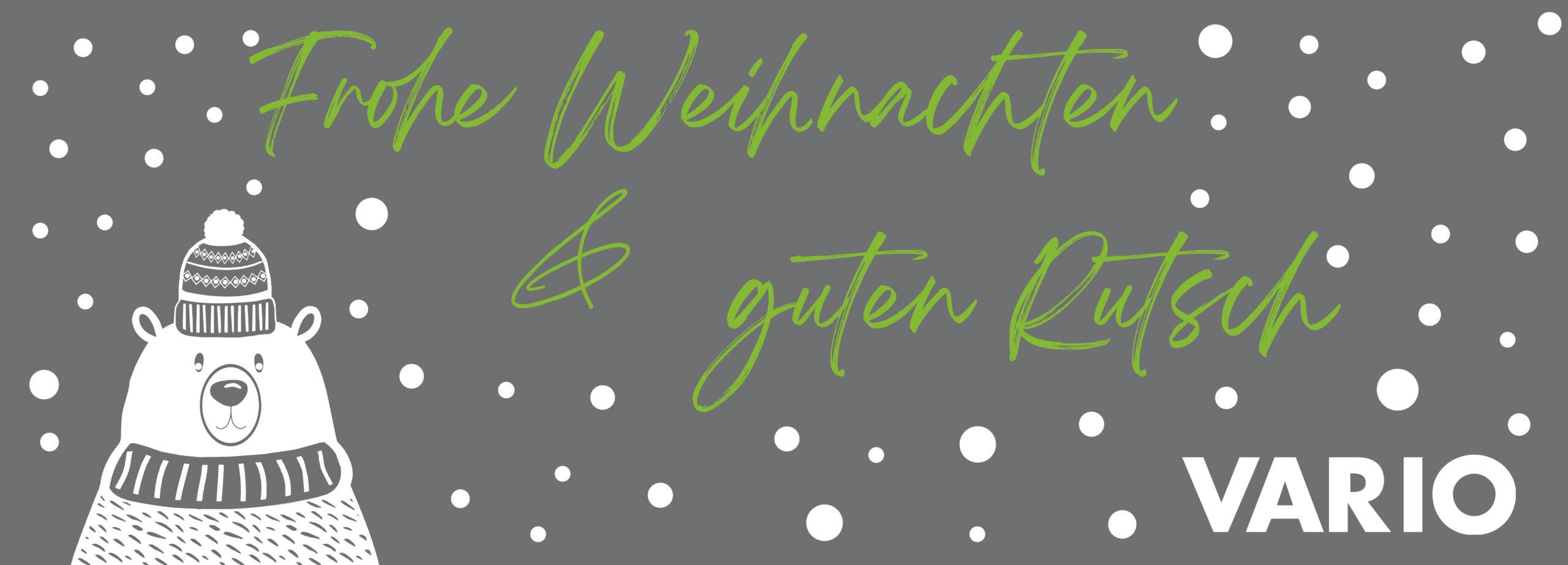 VARIO wünscht: Frohe Weihnachten & einen guten Rutsch